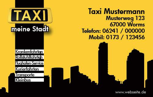 Taxi Visitenkarte Transport 500 Stück 39 Aktionspreis